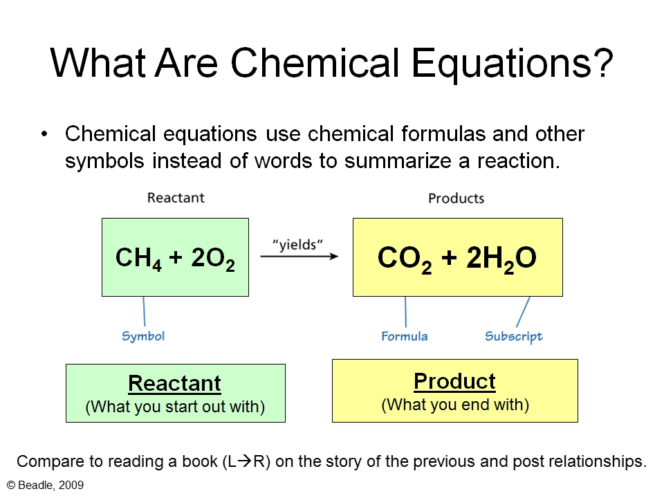 chemical equations and reactions 41 chemical reactions and chemical equations a chemical change orchemical reaction is a process in which one or more pure substances are converted into one or more.